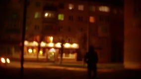 人强盗剪影敞篷的是夜光灯笼窃贼违者 夜贼被弄脏的背景未知数是 影视素材