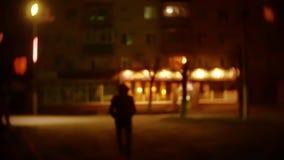 人强盗剪影敞篷的是夜光灯笼窃贼违者 夜贼被弄脏的背景未知数 影视素材