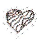 人形状婚姻姜饼的心脏 免版税库存图片
