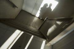 人影子楼梯间妇女 库存照片