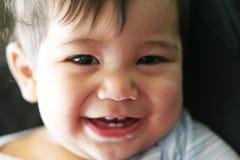 人微笑的一点 库存照片