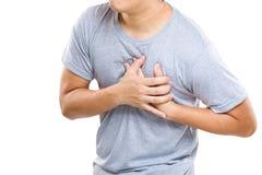 人心脏病发作  库存图片