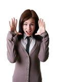 年轻人惊奇的女孩 免版税库存图片