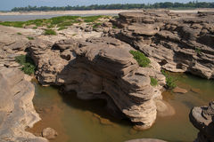 令人惊讶的山姆帕纳bok和大峡谷在泰国 免版税图库摄影