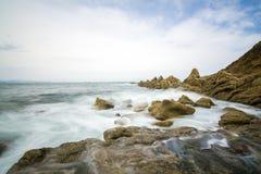 令人惊讶的毕尔巴鄂海滩 免版税库存图片