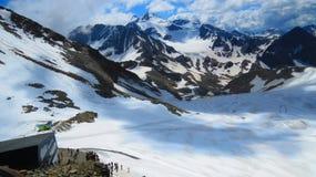 令人惊讶的Gletscher在奥地利阿尔卑斯 免版税图库摄影