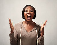 黑人愉快的妇女 库存图片