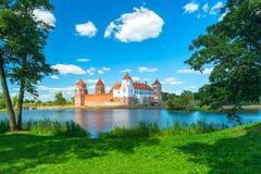 令人愉快的Mir城堡在白俄罗斯 免版税库存图片