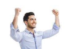 人成功的年轻人 免版税库存照片