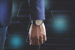 人手手表 免版税库存照片