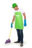 人打扫地板 免版税库存图片