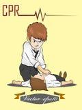 人执行CPR 免版税图库摄影
