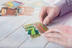 人抓痕波兰lotter 免版税库存图片