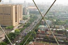 人抗议台湾的商业契约 免版税图库摄影