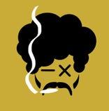 人抽烟的大麻 库存照片
