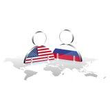 人抽象美国和俄罗斯 免版税库存照片