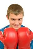 年轻人拳击手 免版税图库摄影