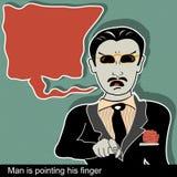 人指向手指 向量例证