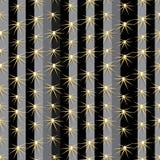 仙人掌种植纹理无缝的样式背景 免版税图库摄影
