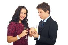 人提供的环形婚礼 库存图片