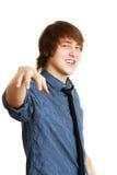 年轻人提出 免版税库存照片