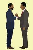 黑人握手 免版税库存图片