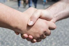 人握手  免版税库存图片