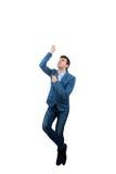 人攀登绳索 免版税图库摄影
