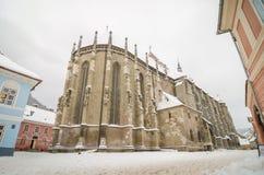 黑人教会在罗马尼亚的布拉索夫特兰西瓦尼亚地区 库存照片