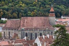 黑人教会在Brasov罗马尼亚 免版税库存照片