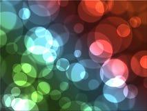 令人敬畏的五颜六色的泡影bokeh抽象派背景 库存照片