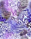 令人敬畏的动物混合印刷品-无缝的背景 免版税库存照片
