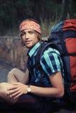 人旅游年轻人 免版税图库摄影