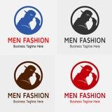 人时尚商标传染媒介剪影 皇族释放例证