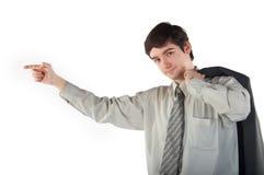 人显示年轻人 免版税库存照片