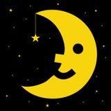 人月亮 免版税库存图片