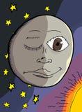 人月亮 免版税库存照片
