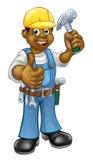 黑人木匠杂物工 免版税库存照片
