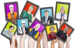 人档案有各种各样的职业的 免版税库存图片