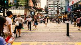 人横渡的街道 图库摄影