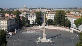 人正方形和狮子正方形在罗马 股票录像