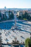 人正方形在罗马 免版税库存照片