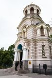 人正统大教堂的nead门在里加 库存图片