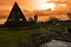 令人毛骨悚然的坟园在斯特灵苏格兰 免版税库存图片