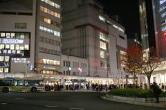 人民在街市街道京都,日本走 免版税库存图片