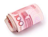 人民币卷 免版税库存照片