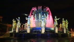 人民的喷泉友谊在VDNH的莫斯科 影视素材