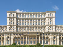人民的宫殿议会(住处Poporului)或议院在布加勒斯特 库存图片