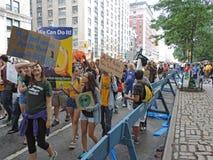 人民的气候2014年3月纽约 免版税库存图片