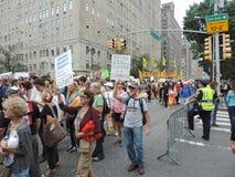 人民的气候2014年3月纽约 库存照片